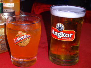 Girls Who Travel | trying Cambodian beer